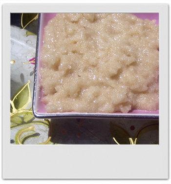 Pâte de gommage moussante douceur amande et frangipanier - recettes de cosmétiques maison avec MaCosmetoPerso