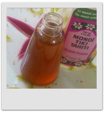 Huile de massage exotique ylang frangipanier : recette de cosmétique naturelle maison avec MaCosmetoPerso