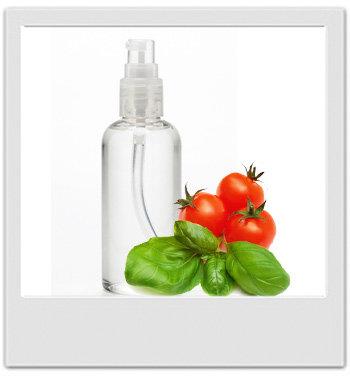 Lotion tonique provençale tomate & basilic - recettes de cosmétiques naturels maison avec MaCosmetoPerso