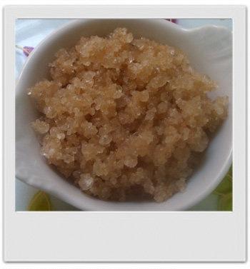 Crumble de douche anti-cellulite thé citronné : recette de cosmétique maison avec MaCosmetoPerso