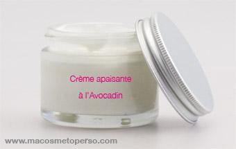 Crème visage apaisante à l'Avocadin