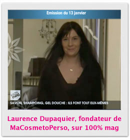 Reportage 100% mag cosmetiques maison - Laurence Dupaquier, MaCosmetoPerso